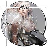 Lady Gaga C Tapis De Souris Ronde Round Mousepad PC