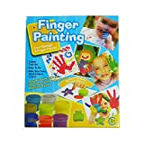 #9: Crack4deals 2 in 1 Finger Painting With Non Toxic Paint Colors
