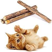 Katzenminze Sticks für Katzen,Silvervine /katzensticks matatabi Zahnpflege Zahnreinigung Kausticks Katzenspielzeug Kaustäbchen Sticks für die Gesundheit Ihrer Katze,5 Sticks