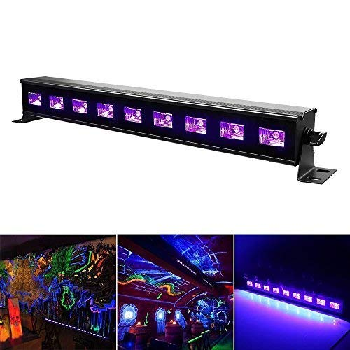 (TataYang Beleuchtung Schwarzlicht Led, 9LED x 3W Wall Washer Led Light Bar, Bühnenbeleuchtung mit Fernbedienung für Party Bar Karneval Halloween und Weihnachten und Spezialeffekte)