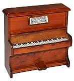 Miniatur Klavier - Holz Maßstab 1:12 - aufklappbar Möbel dunkel braun Puppenhaus Piano - Musikinstrument Musik Instrument