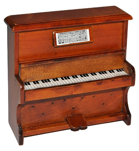 Unbekannt Miniatur Klavier - Holz Maßstab 1:12 - aufklappbar Möbel dunkel braun Puppenhaus Piano - Musikinstrument Musik Instrument