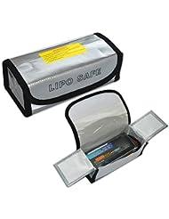 Prevently New Creative LiPo Li-Po - Bolsa de Seguridad para batería (ignífuga, 185 x 75 x 60 mm)