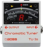 BOSS TU-3S Chromatic Tuner Pedal Bianco