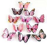 Best Vovotrade Livres Pour Bébés filles - Vovotrade 12x 3D papillon Autocollant Mural Aimant Room Review