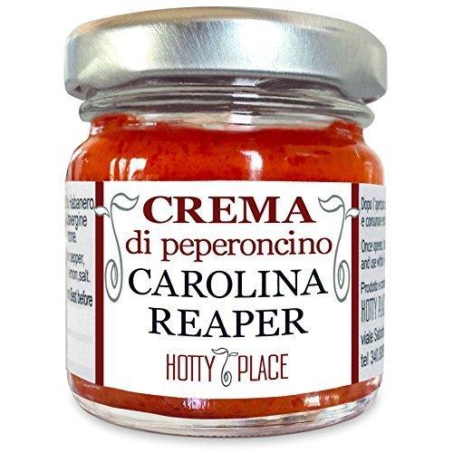 Crema CAROLINA REAPER Peperoncino Piccante ESTREMO - Il più Piccante al Mondo - 1° posto Guinness World Record Piccantezza VASO VETRO 30g