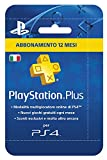 Sony Playstation Plus Card Hang Abbonamento 12 MESI [Importación Italiana]