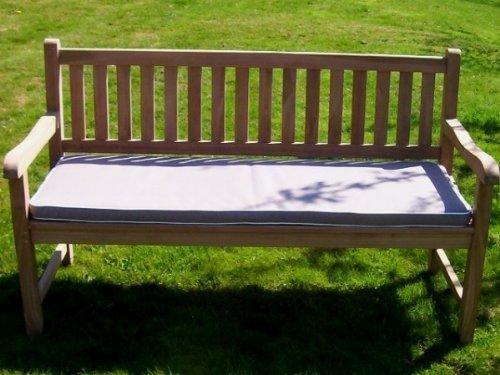 3 posti (1,4 m/140,21 cm) lusso cuscino per panchina da giardino con imbottitura di alta qualità e tessuto - cuscino solo - TORTORA