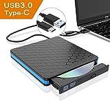 Externes CD DVD Laufwerk, Lovebay USB 3.0 Typ-C und Typ-A 2 in 1 CD DVD RW Brenner Tragbar für Apple Mac MacBook Pro Air iMac Notebooks Laptop PC Desktop Computer Win XP/Vista/7/8/8.1/10/Linux