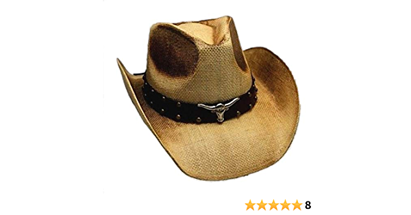 Hutband Geflochten Braune Basketweave mit Leder Kordel Quasten Cowboy Hut Band