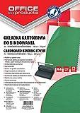 Office Products 20232525–02carátulas para encuadernar de cartón, A4, 250g/m², estructura de piel, 100unidades), color verde