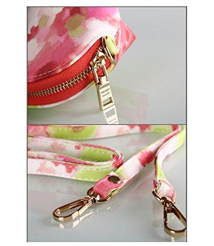 PU Piega Lunga Pelle moda donna Portafoglio borsa Ecopelle Wallet raccoglitore Pocket Portamonete Verde