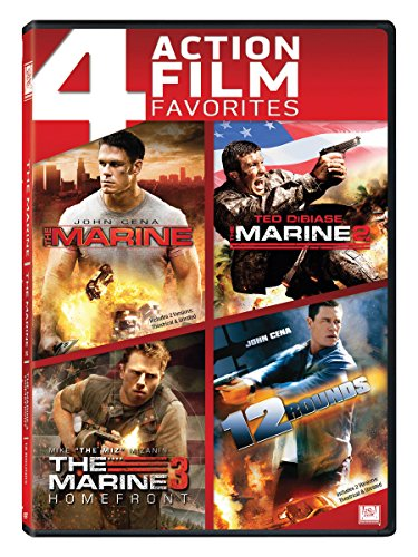 4 Action Movies Collection: The Marine + The Marine 2 + The Marine 3: Homefront + 12 Rounds
