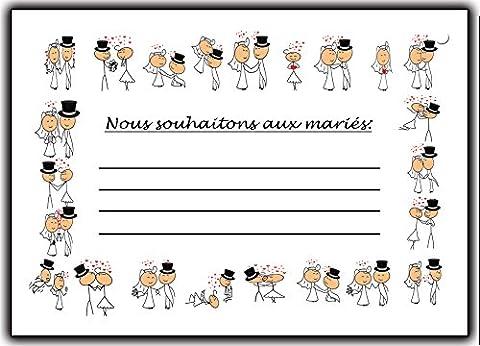 Mariage Lot 50 cartes de mariage pour lâcher de ballons animation accessoires deco decoration activite faire-part humor humouristique
