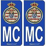 Autocollant armoiries principautCA Monaco immatriculation dp BBCYEE