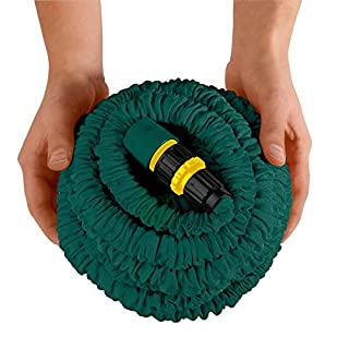 Gartenschlauch Flexi, flexibler Gartenschlauch, automatisch verlängerbar & zusammenziehbar, Leichtgewicht, für gängige Anschluss-Systeme, erweiterbar, 7,5 m, grün