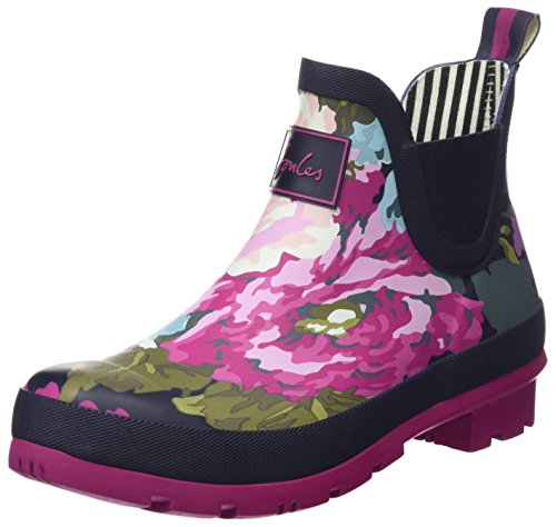 Joules Women's Wellibob Wellington Boots, Blue (Exclusive Navy Floral), 7 UK 40/41...