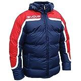 Givova Antartide, Giubbotto Calcio Uomo, Multicolore (Rosso/Blu), 3XS