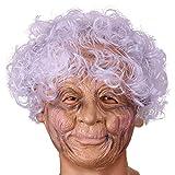 Senoow Latex Oma Masken Realistische Alte Dame Vollgesichtsmaske Halloween Kostüm Party Verwenden