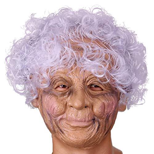 ken Realistische Alte Dame Vollgesichtsmaske Halloween Kostüm Party Verwenden ()