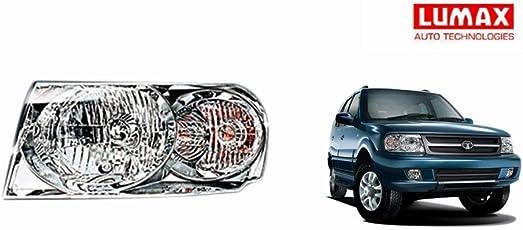 Lumax Car Crystal Headlight Assembly LEFT - Tata Safari 2013
