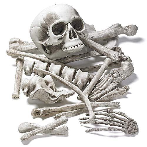 Horror Dekoration Haunted House Secret Room Bar Requisiten 28 Stück Gebrochene Knochen Gewickelt Skelett Skelett ()