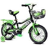 Wanlianer Liegerad Kinder Jungen Gilrs Fahrrad mit Stablizers 12inch Alter 3-5Y Innen- (Farbe : Grün)