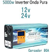Inverter 5000w Inversor Onda Pura Del Seno DC 12V to AC 220V+LCD+Cargador