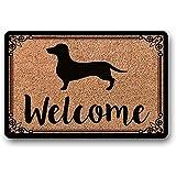 Novelcustom Welcome Mat,Perro Salchicha Felpudo Regalo De Boda Regalo De Inauguración De La Casa Alfombrilla De La Puerta Felpudo Personalizado Felpudo Personalizado Lindo Felpudo Divertido 40Cm*60Cm