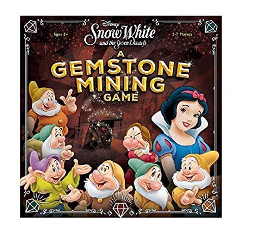 USAopoly USOQZ004494 Disney Schneewittchen und die Sieben Zwerge: EIN Edelstein Bergbauspiel, Mehrfarbig