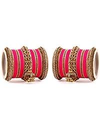 Set Of 50 Bangles Traditional Jhumki Bangles Set By Leshya For 2 Hands