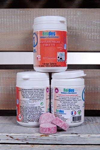 Sanitärreiniger Tabs - 100% biologisch abbaubar - umweltfreundlich - 1 Tab auf 750-1000 ml Wasser - in 5 Minuten aufgelöst - Inhalt: 12 Tabs (ergibt 12 Liter gebrauchsfertige Mischung) (Phosphat-frei)