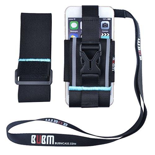 BUBM riflettente Sport Jogging, da appendere stile Esercizio Fascia da braccio Custodia Porta Smartphone da braccio con cordino per palestra, corsa, camminata, escursionismo, Sport all' aperto, per 4.5-6.5inch Cellphone
