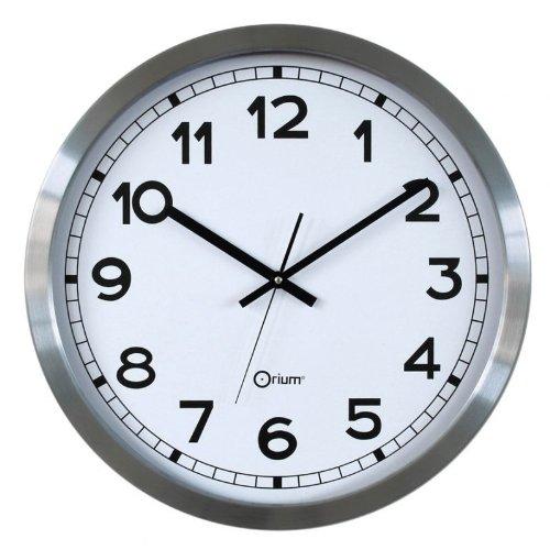 Orium 11511 Horloge Basique métal Ø50cm, Aluminium, 50 cm