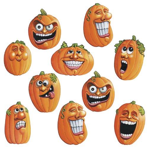 Beistle Mini-Aufsteller für Halloween, Wacky Jack-O-Lantern 10,2 cm