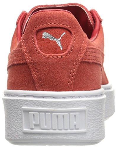 Puma Suede Platform Leder Turnschuhe Barbados Cherry-Cherry-White