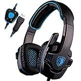 Gaming-Kopfhörer Für Ps4, Angenehme Geräuschunterdrückung 3,5 Mm Mit Mikrofon Für Xbox One Pc-Laptop Kopfhörer
