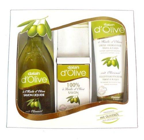 Oliven Set mit Peelingtuch