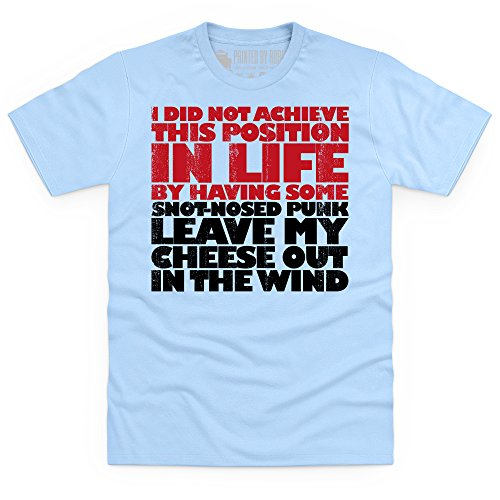 Cheese Out In The Wind T-shirt, Uomo Celeste