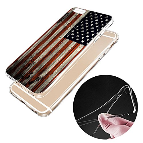 IPHONE 6plus Hülle USA Deutschland Fahne Muster Silikon TPU Schutzhülle Ultradünnen Case für iPhone 6plus/6splus gq3