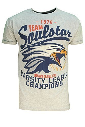 Soulstar Uomo Hyrule T-shirt Football Americano Stile Logo Maniche Corte