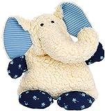 sigikid, Mädchen und Jungen, Wärmekissen Elefant, Weiß/Blau, 30169