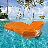 FXQIN Elektrisches Surfbrett - für Stand Up Paddle Board zum Paddeln, Surf Control, Anti-Rutsch-Deck | Stehendes Boot für Jugendliche und Erwachsene (orange)
