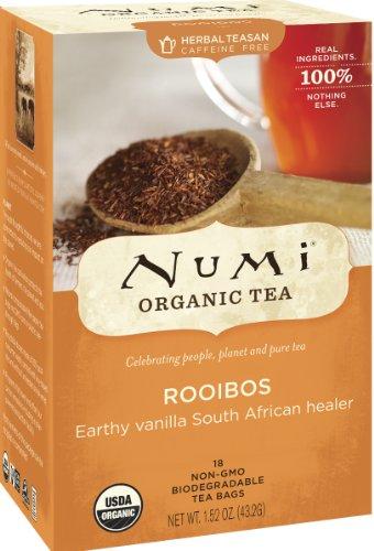 Pack of 3 x Numi Tea Organic Rooibos - Caffeine Free - 18 Bags
