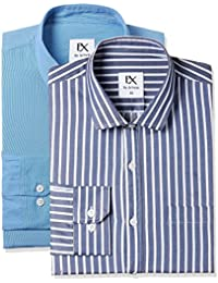 EX by Excalibur Men's Formal Shirt (Pack of Two)