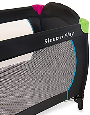 Hauck Sleep'n Play Center - Cuna de viaje (parque y cuna, 60 x 120 cm, 7,7 kg), multicolor