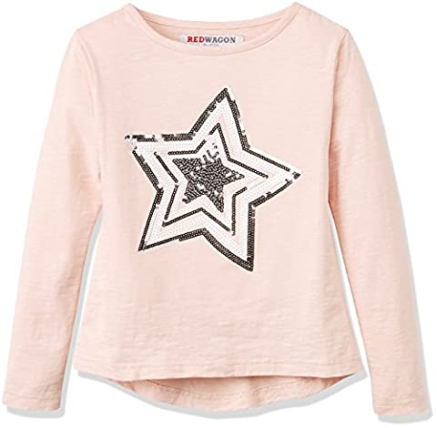 RED WAGON Star Tee L/s, Haut Fille, Rose (Pink), 12 Ans (Taille Fabricant: 12)