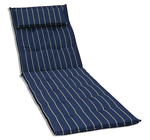 KMH, Auflage für Sonnenliege ( marineblau / mit gelben Streifen ) (#105044)