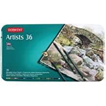 Derwent Artists - Set de 36 lápices de colores en caja metálica