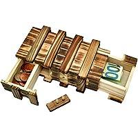 Magische Geschenkbox aus Holz Geld Geschenk Verpackung Rätselbox groß 2 geheime Fächern für Geldgeschenke, Gutscheine, Schmuck Mystery Knobelspiel Hochzeit Geburtstag Geschenk